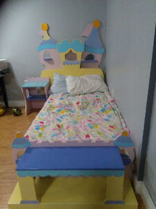 Princess castle bed and night table