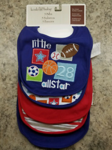 Brand New/Never Used - Bibs, Soothers/Pacifiers, Peri Bottle