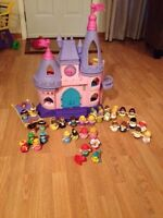 Disney Fisher Price Little People castle and princesses