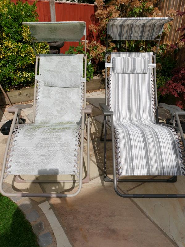Cool Garden Recliner Chairs Sold In Bracknell Berkshire Gumtree Inzonedesignstudio Interior Chair Design Inzonedesignstudiocom