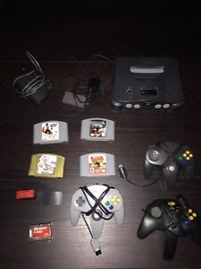 N64 Bundle W/ 3 Controller And 4 Games!