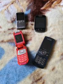 4 mobiles for sale all £20 the lot !!!! Read advert be4 replying