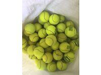100 USED TENNIS BALLS