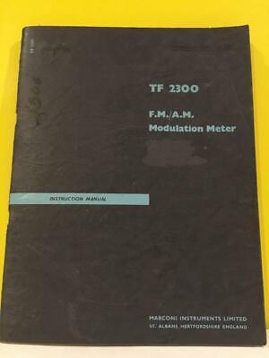 Marconi F.m. A.m. Modulation Meter Tf 2300 Instruction Manual