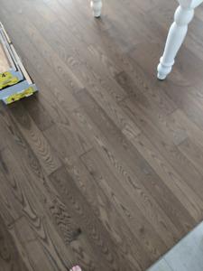 60 pi2 de plancher de bois franc- Preverco frêne, couleur mambo