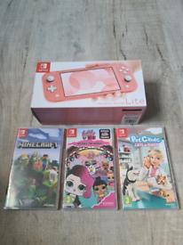 Nintendo switch lite 3 games