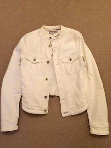 Diesel + Edun white cotton moto jean jacket - XS