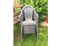 For Sale 6 Plastic Garden Chairs