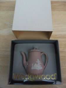 Discontinued Wedgwood Mini/Miniature Pink Jasperware Coffee Pot