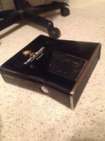 Xbox 360, two controllers, minecraft