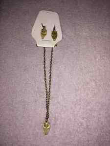 Owls Earrings & Necklace Set (REDUCED)