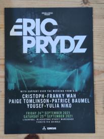 selling ERIC PRYDA CONCERT. £10. Liverpool. 25th sep. Actual price £35