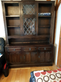 Brown furniture.