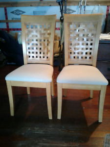 2 Mission style dining chairs