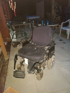 Well used electric wheel chair
