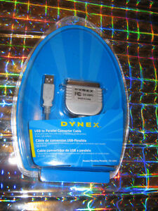 Dynex 6' USB To Parallel Converter Cable - NIB - $20.00