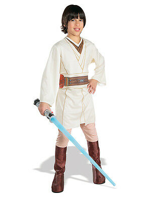 Child Licensed Star Wars Obi Wan Kenobi Jedi Fancy Dress Costume Kids Ages 3-10