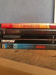 DVDs / 3$ Chaque / 2 pour 5$ / Horreur / Action / Sci-Fi