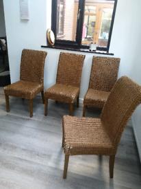 4x Wicker Kitchen Chairs