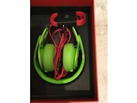 Beats by Dr Dre green Mixr headphones