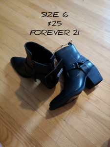 Various new Forever 21 size 6 shoes/boots