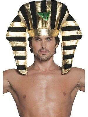 Smi - Karneval Kostüm Zubehör Pharao Hut ägyptisch schwarz gold - Pharao Kostüm Hut
