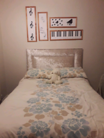 DOUBLE BED HEADBOARD AS NEW