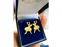 Ballerina Earrings 9ct yellow gold
