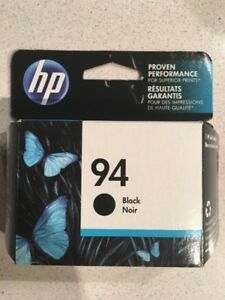 NEW, SEALED. GENUINE-HP 94 BLACK INK CARTRIDGE - C8765WN.