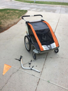 Thule Chariot Cougar 2 - bike trailer / double stroller