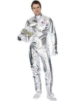 Smi - Karneval Herren Kostüm Astronaut Space Man silber - Herren Space Kostüm