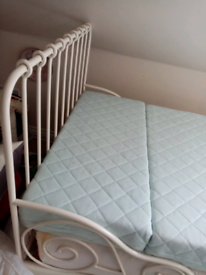 Ikea extendable bed, scroll design metal