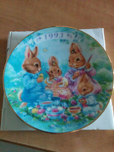 1993 colourful moments Easter plate