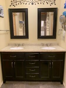 Double-sink bathroom vanity 60""
