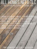 Pressure Washing Available