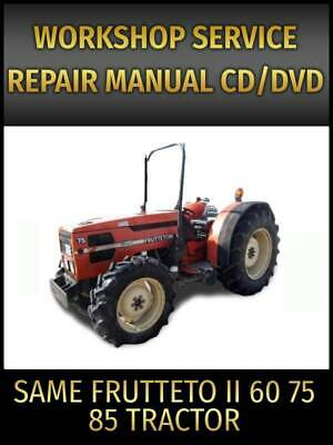 Same Frutteto Ii 85 75 60 Tractor Service Repair Manual On Cd