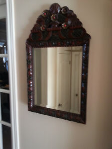 Ornate Fruitwood Mirror (Bevelled Glass) Distinctive Design