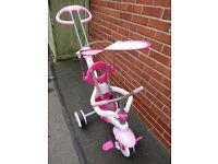Girls pink 3in1 smart trike
