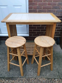 Small table and matching stools