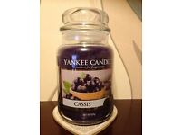 Yankee Candle Cassis Large Jar Brand New