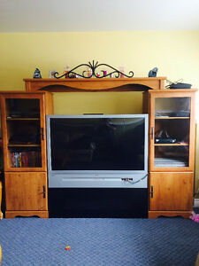 Beautiful entertainment centre with 50 inch TV