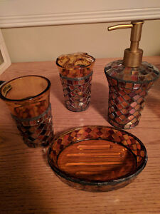 Bathroom Collection - Stained Glass 4 piece Set