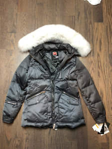1 Madison Expedition - Fox-Fur-Trim Hooded Puffer Coat