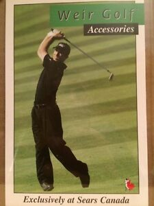 4 MIKE WIER GOLF ACCESSORIES SEARS CARDS GIVEN AFTER MASTERS WIN