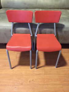 Pair of Kids Stacking Chairs