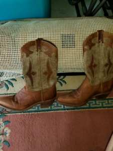 Authentic leather Women's cowboy boots