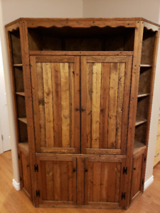 Solid Wood TV Stand Corner Unit