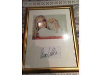 Signed Anastasia framed photo