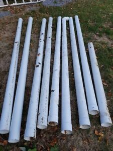 "8 x 4"" x 10' PVC Solid Sewer Pipe"