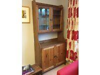 Contemporary wooden IKEA dresser (Leksvik buffet with top cabinet)